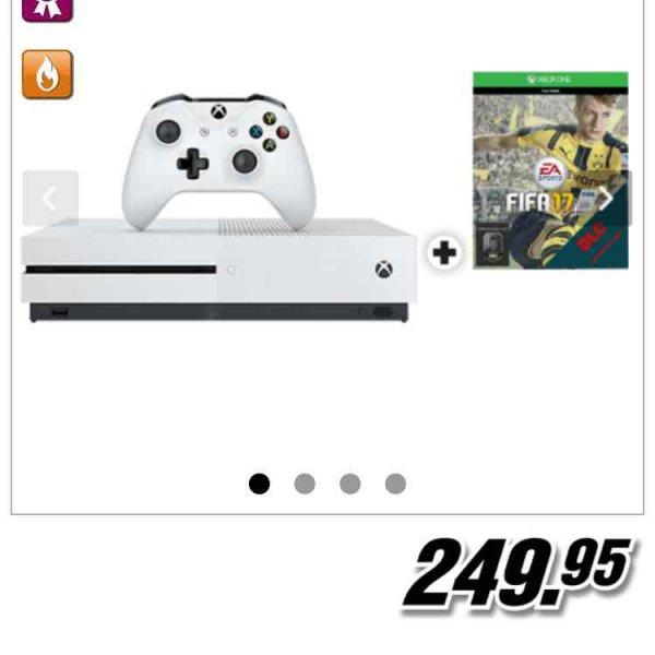 [mediamarkt.ch] XBOX One S 500 GB + FIFA 17 (DLC) für 249,95 CHF