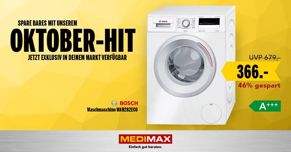 [LOKAL Medimax WR] Bosch WAN282ECO, 7kg, 1400 U/min, A+++, Idealo: 459,85 EUR