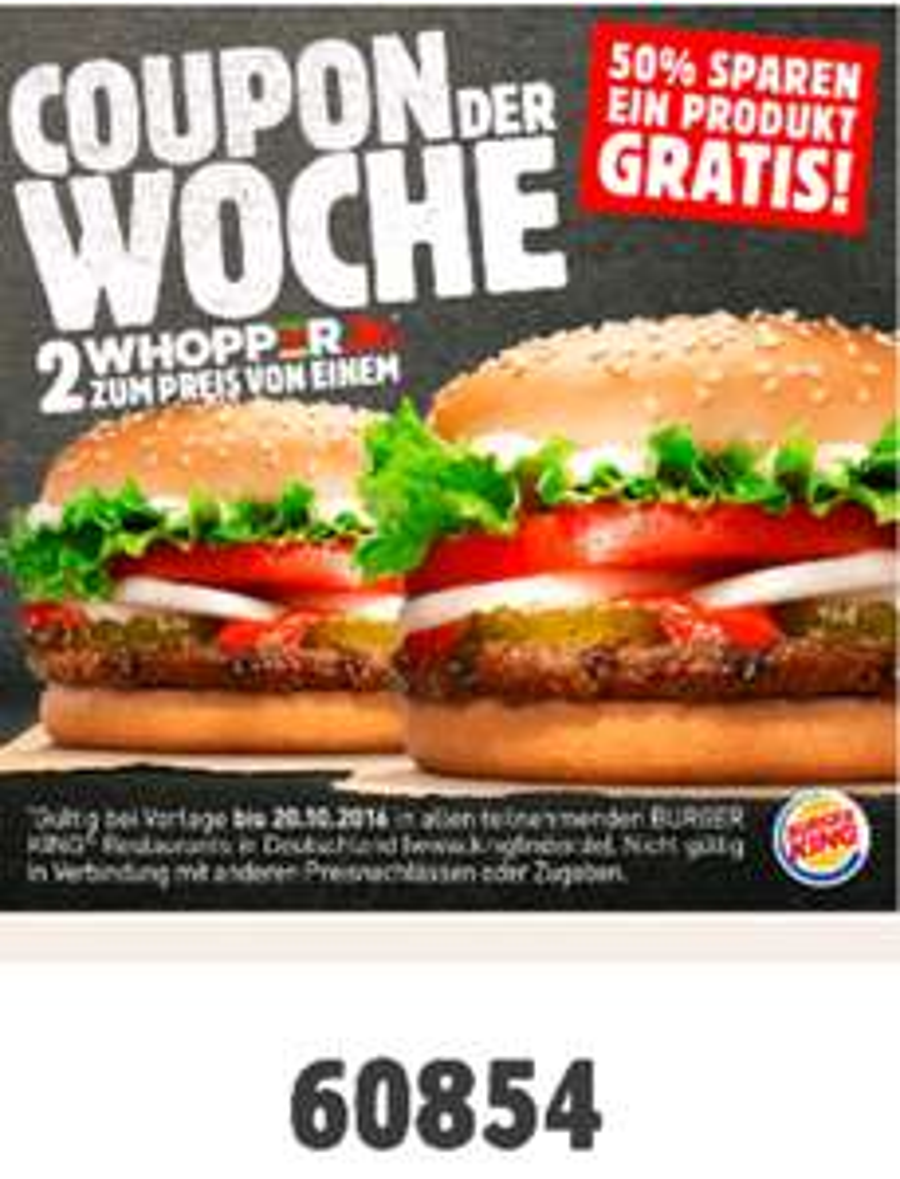 Burger King Zwei Whopper Jr. zum Preis von einem.