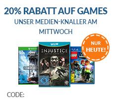 20% Rabatt auf alle Games bei Rebuy (MBW 25,- €)
