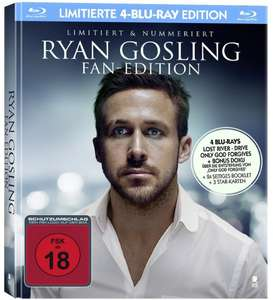Ryan Gosling Fan Edition - MediaBook mit Booklet, 3 Postkarten und den Blu-ray Filmen Lost River, Drive, My Life,  Only God Forgives für 22,97€ (Amazon)