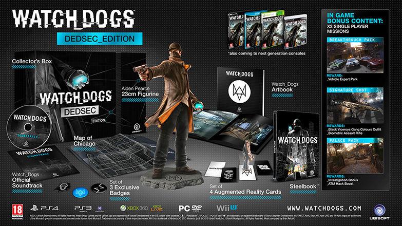 [PC/PS4/Xbox One/PS3] WATCH_DOGS™ - DEDSEC EDITION für 27,49€ (30€) (-20% mit den Ubisoft-Club Rabatt für 21,99€ (24€))