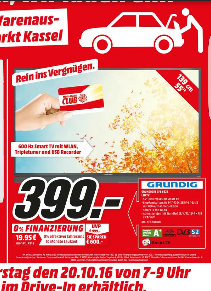 [Lokal] Kassel Grundig 55 GFB 6622 399€