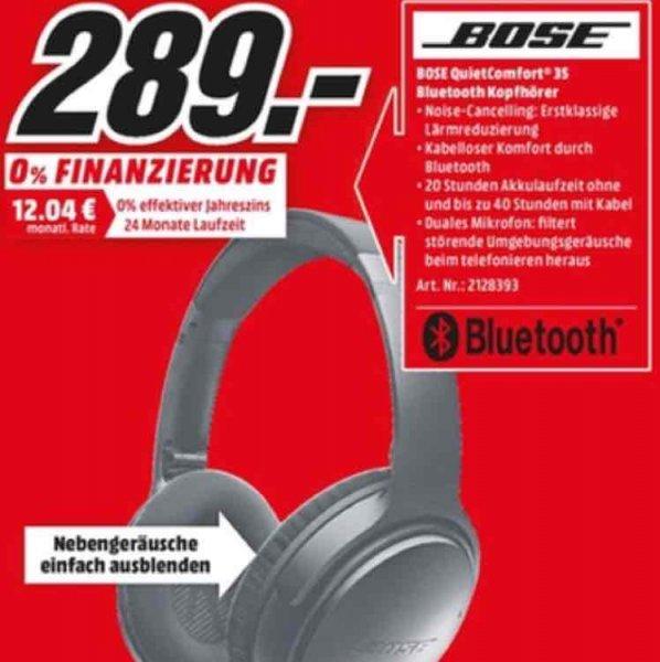 [lokal Bonn] Bose QuietComfort 35 Bluetooth Kopfhörer für 289€ im Media Markt Bonn