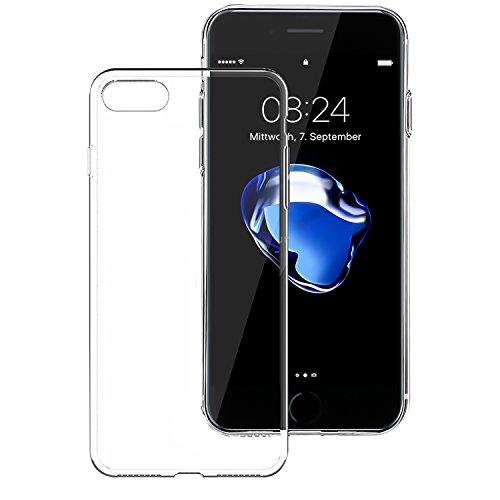 Noch nicht abgelaufen !!! Silikon Schutzhülle Case für iPhone 7 Rückschale (iPhone 7, Transparent)