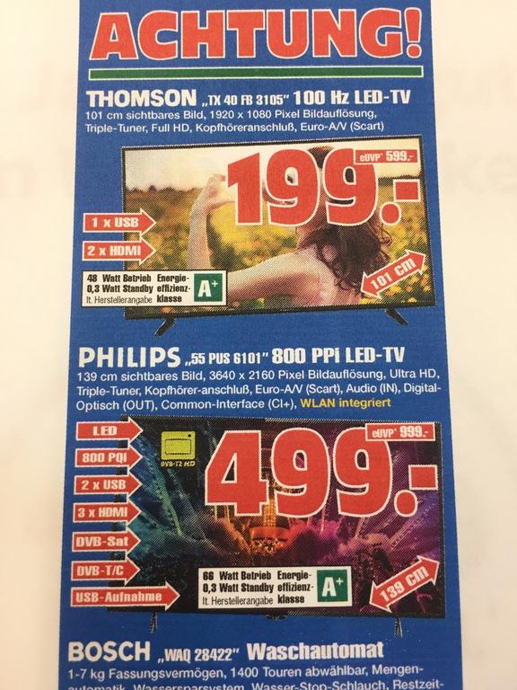 UHD TV Philips 55PUS6101super Angebot!!! In Gelsenkirchen Radiomarkt