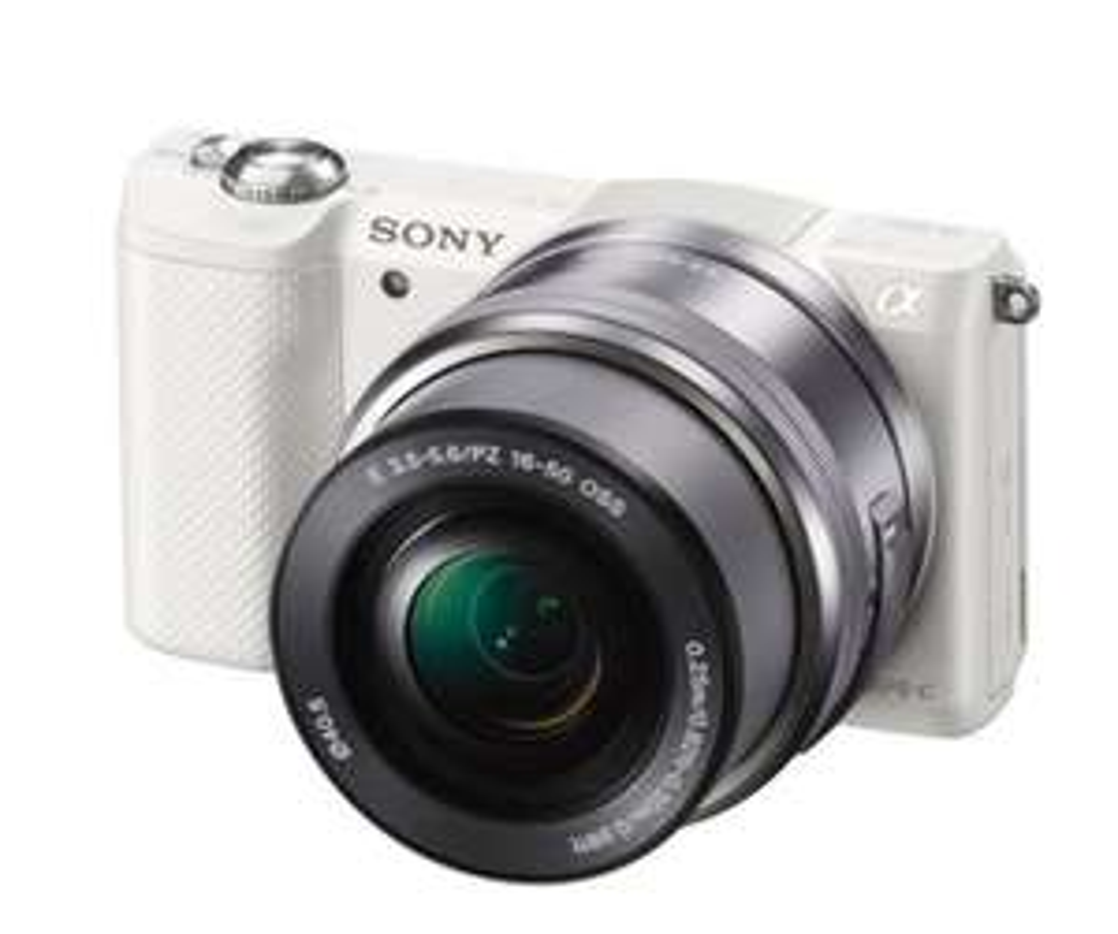 Sony Alpha 5000 Systemkamera weiß inkl. SEL-P1650 Objektiv (Amazon)