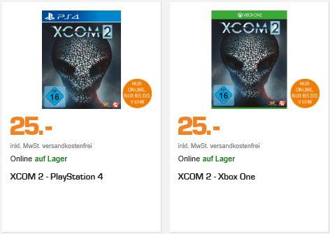 [Saturn Late Night] XCOM 2 (PS4 und Xbox One) für je 25,-€ Versandkostenfrei