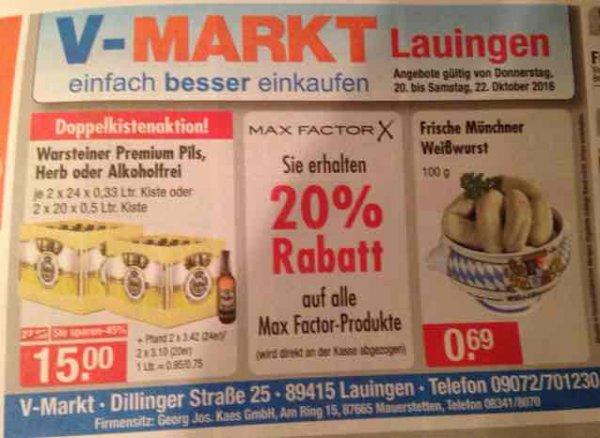 2 Kisten Warsteiner - 15€ zzgl. Pfand [lokal, v-markt]