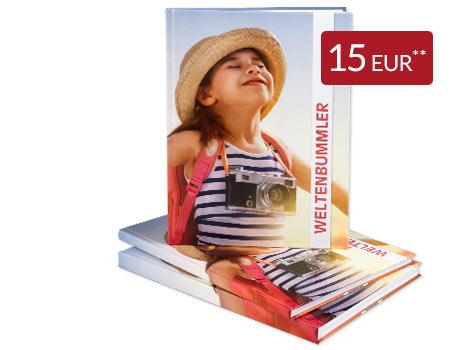 Fotobuch Hardcover A4 matt mit max. 156 Seiten für 10 Euro (zzgl. Versand)