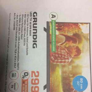 [Saturn Mainz, Wiesbaden] Grundig LED TV 32 GFB 6628