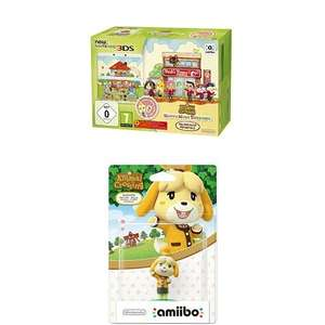 [Amazon] New Nintendo 3DS - Konsole, weiß + Animal Crossing Happy Home Designer + Zierblende + amiibo Animal Crossing Melinda