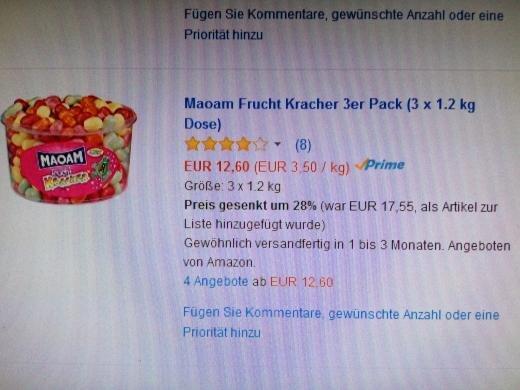 Maoam Frucht Kracher 3.50€/Kg