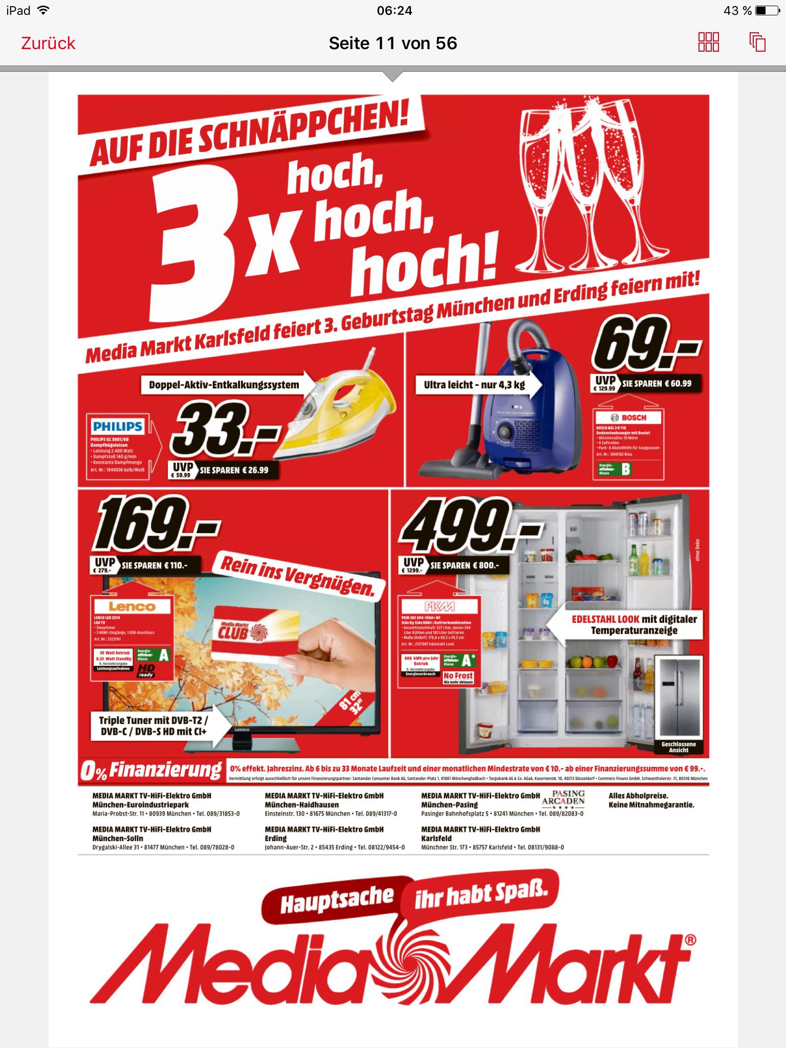 (Lokal Media Markt München) Side-by-Side Kühlschrank PKM SBS 344-169 nur 499 Euro