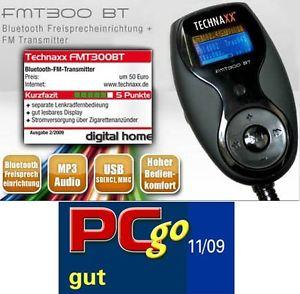 TECHNAXX FMT 300BT TRANSMITTER BLUETOOTH FREISPRECHEINRICHTUNG