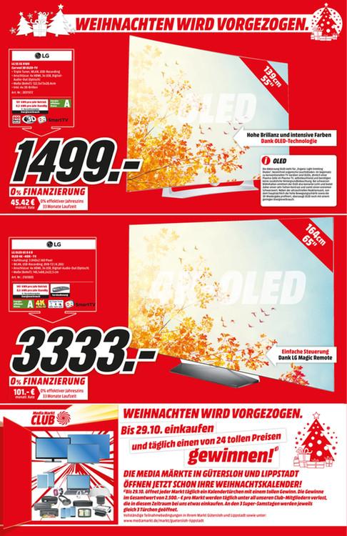 "(Lokal MM Gütersloh + Lippstadt) LG OLED 65B6D 65"" 4K-OLED TV"