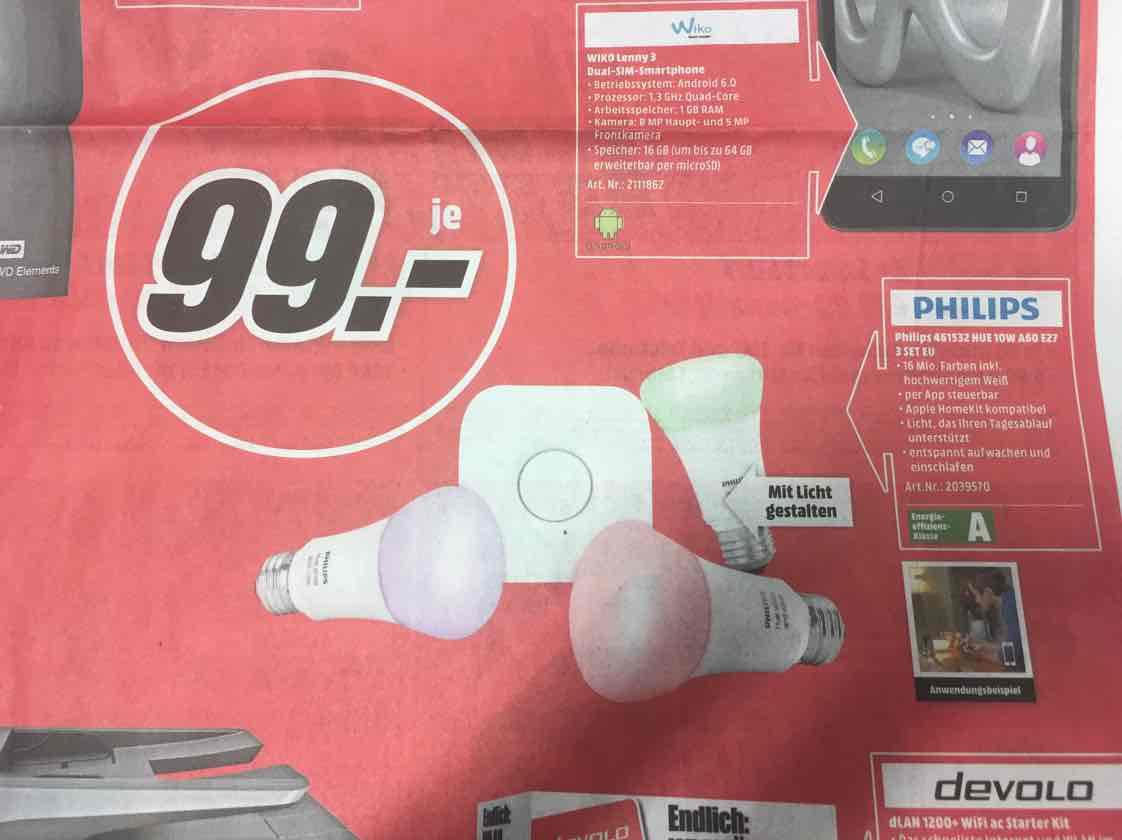 MM Berlin/Brandenburg Philips Hue starterset 461532 16 Mio. Farben