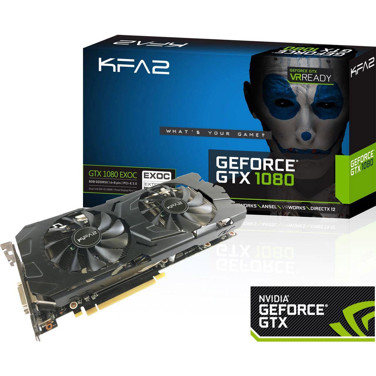 [Mindfactory] KFA² GeForce GTX 1080 EX OC für 599€ + Gears of War 4 gratis dazu