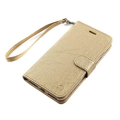 iPhone 7 Leder Hülle in Gold [Amazon-Prime]