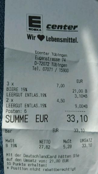 [Lokal Tübingen E Center] Oktoberfest- und Volksfestbier Kasten 7€