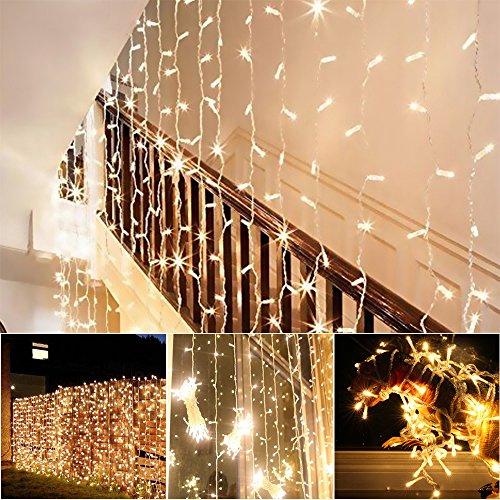 [Amazon] LED-Vorhang für indoor & outdoor, 100 LEDx27s, 8 Licht-Modi, 3x3m [inkl Versand]