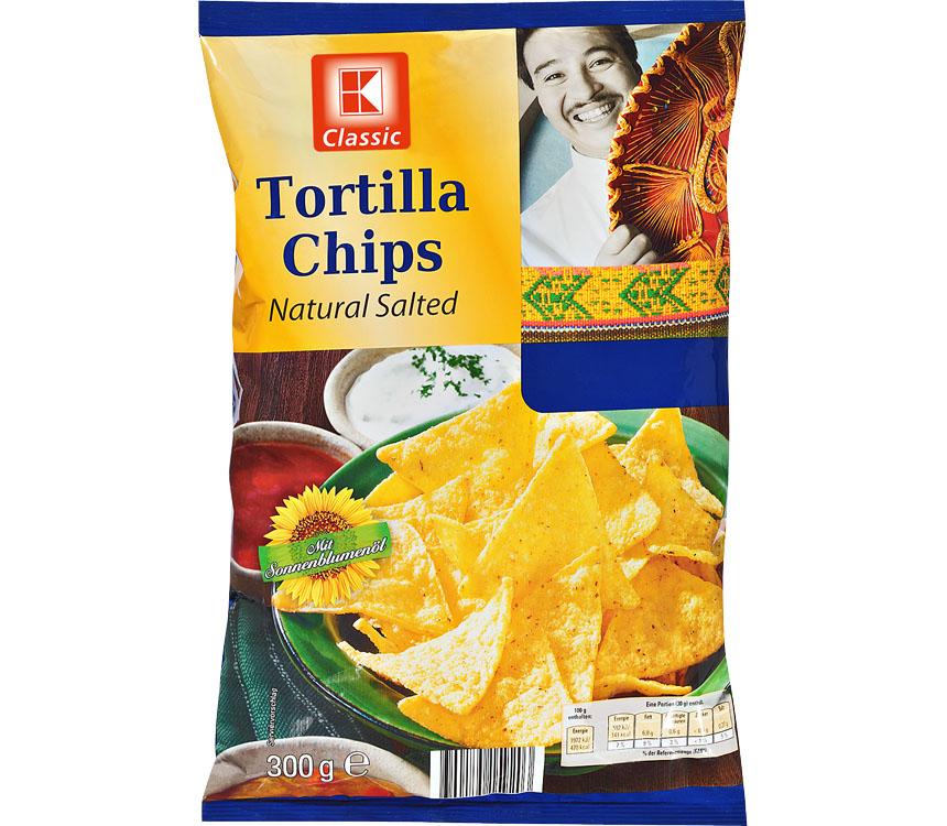 [Kaufland] K-Classic Tortilla Chips versch. Sorten 300 g-Beutel für 0,69€ (statt 0,99€)