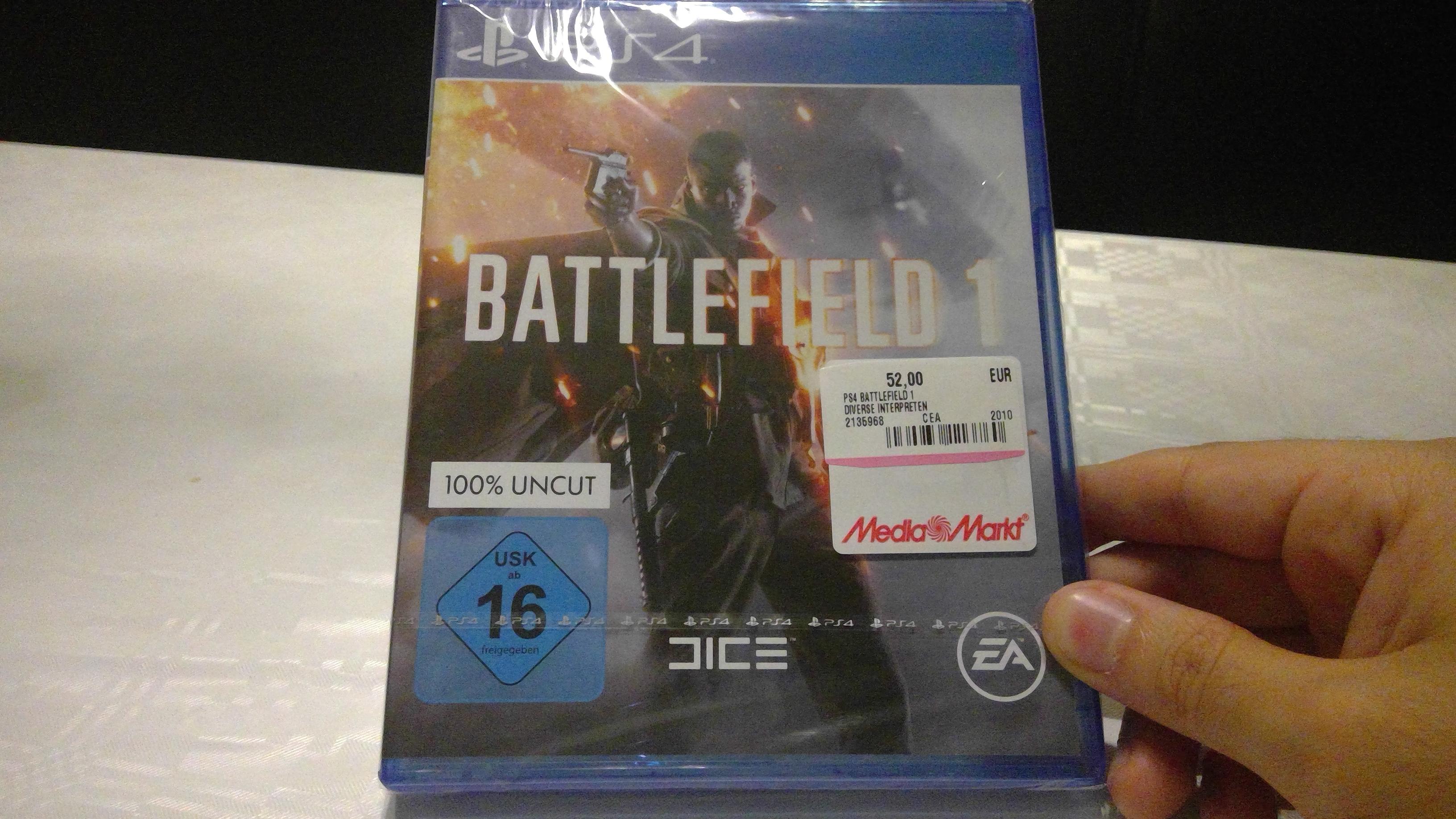 [Mediamarkt - Oggersheim] PS4 Battlefield 1