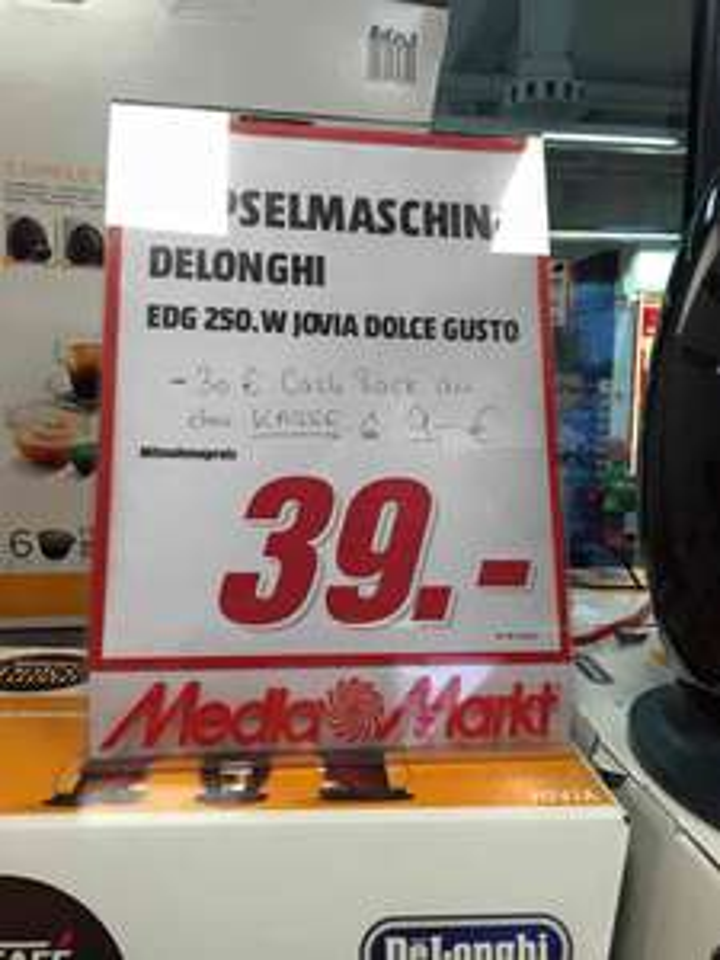[Lokal München Euro-Industriepark] Kapselmaschine Delonghi EDG 250.W jovia Dolce Gusto  9€