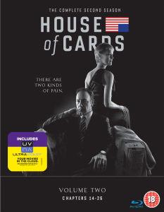 House of Cards - 2. Staffel (Includes UltraViolet Copy) Blu-ray mit dt. Ton (Zavvi)