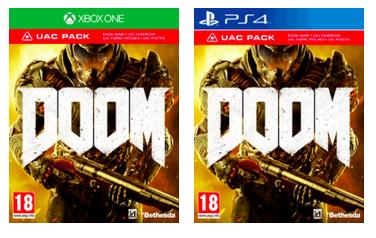 Doom inkl. UAC Pack (One/PS4) für 25.74€ (Game)