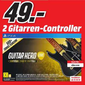 [LOKAL MediaMarkt Berlin/Brandenburg] Guitar Hero: Live - Supreme Party Edition (PS4/Xbox One)