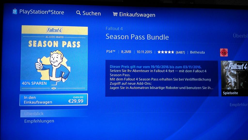 Season pass für fallout 4 reduziert