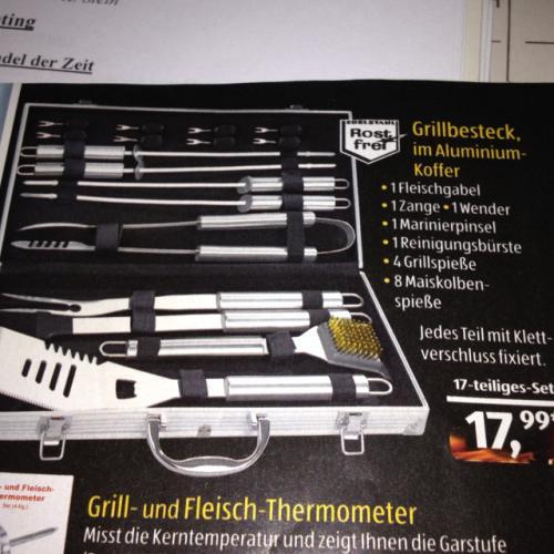 grillkoffer 17-Teilig im Aldi Süd ab 30.4