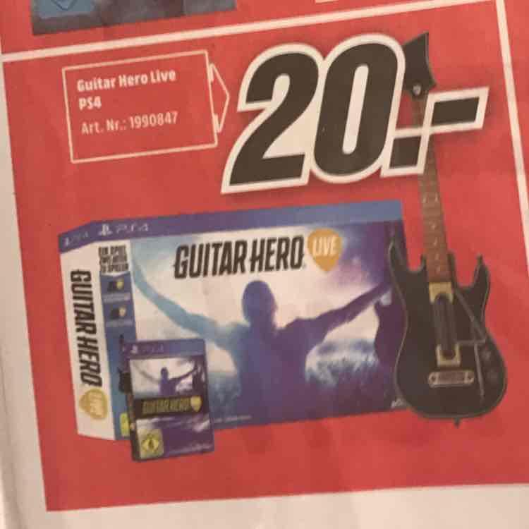 Lokal Erfurt Mediamarkt Guitar Hero Live PS4 20 Euro