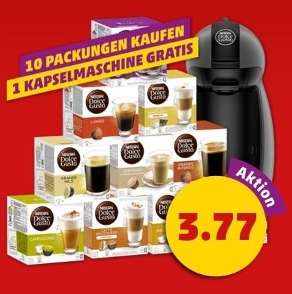 Vorankündigung: Dolce Gusto Piccolo Kapselmaschine mit bis zu 160 Kapseln für 37,70 € [PENNY]