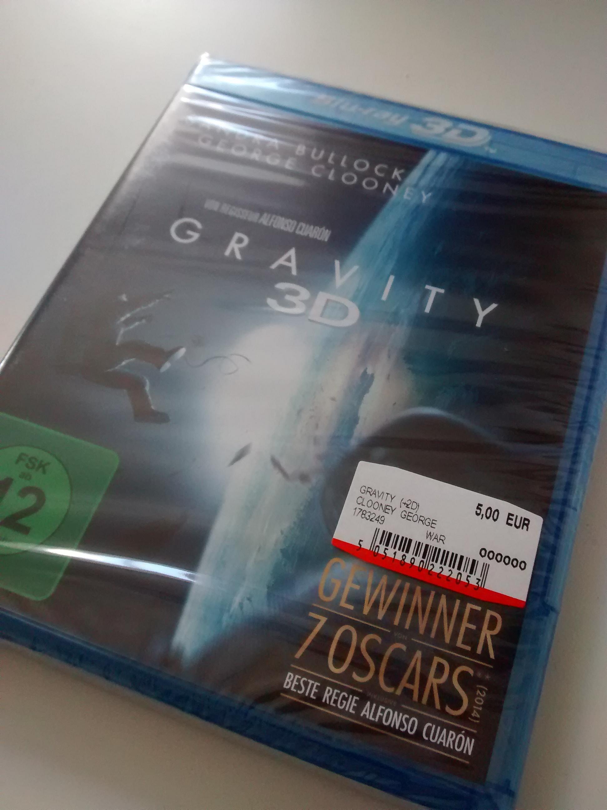 [Lokal? MM München Haidhausen] Gravity 3D Blu-Ray