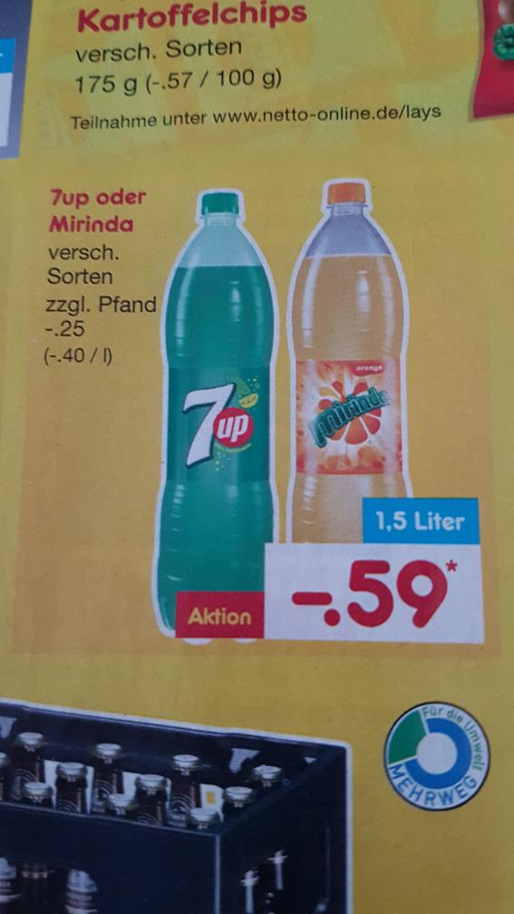 [Netto MD] 7up und Miranda ab dem 27.10.16  für 59 cent