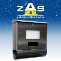 Solar-Briefkasten aus beschichteten Edelstahl für 49,90€ inkl VSK @zuhause-alles-sicher.de