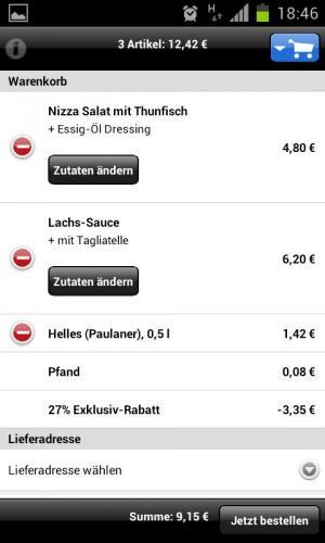 Pizza.de App mit guten Nachlässen in Ballungszentren