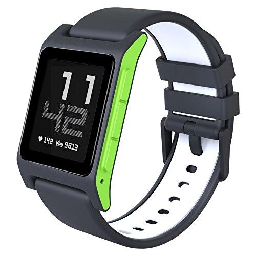 Pebble 2 Smartwatch mit Herzschlagmonitor - Charcoal Lime [Amazon.co.uk]