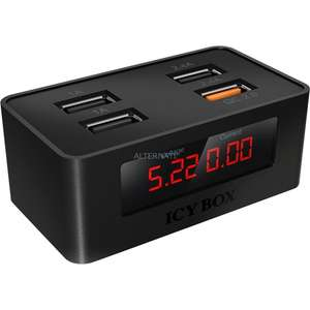 ICY BOX 4-Port USB-Schnellladegerät  IB-CH403