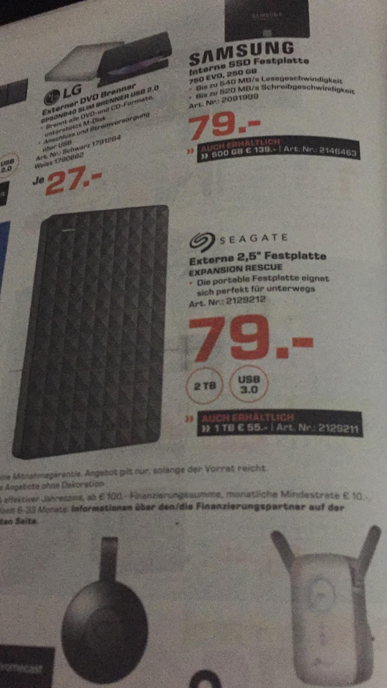 """[Lokal Saturn Aachen,Düren,Euskirchen] 2TB Seagate 2,5"""" externe Festplatte für PS4"""