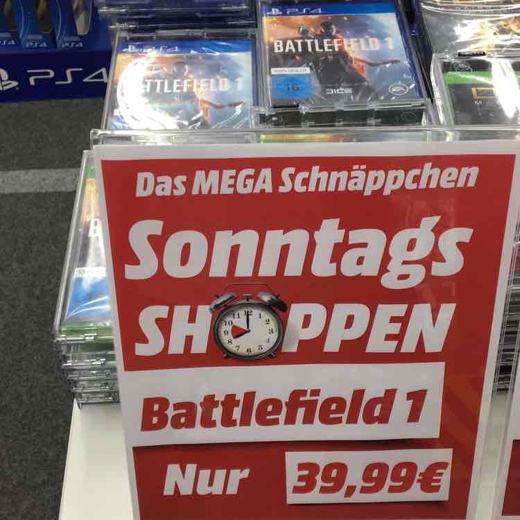[Lokal] DÜSSELDORF Battlefield 1 für PS4/Xbox One