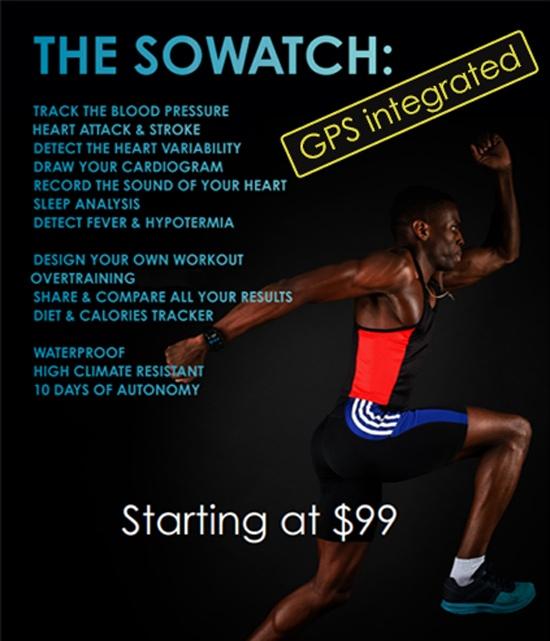 Sowatch - Herzfrequenz und Blutdruck - Smartwatch
