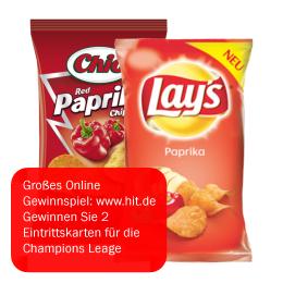 Chio- / Lay's- / Kesselchips / Funny Frisch / Bugles / Doritos / Erdnussflippies (Alle Sorten) 100-250g für nur 0,99€ bei HIT