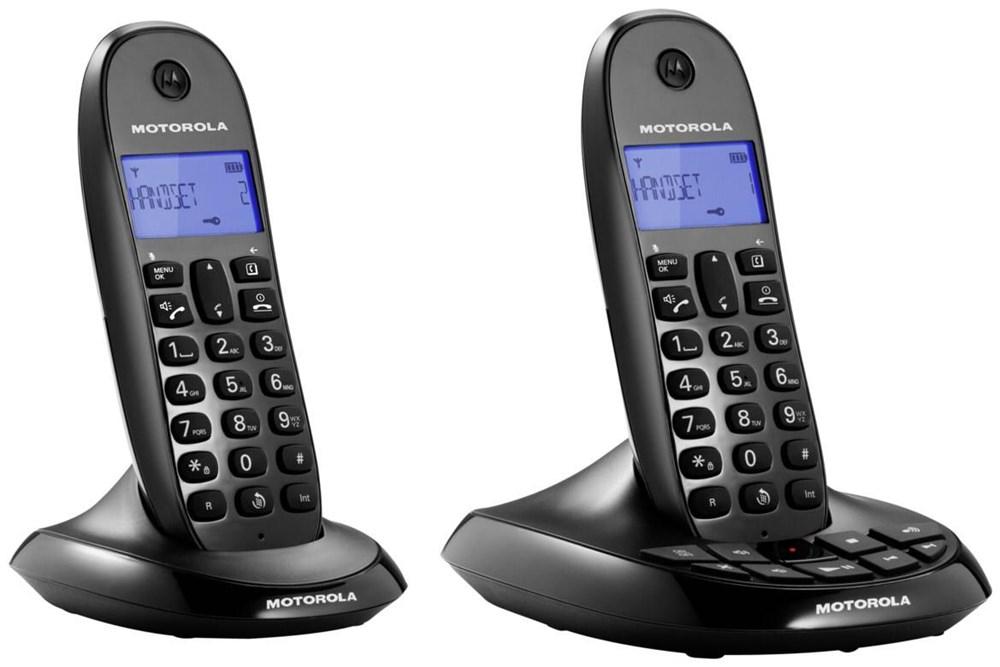 Motorola C1212 Duo - schnurloses Analogtelefon, digitaler Anrufbeantworter, zweites Mobilteil [notebooksbilliger.de]