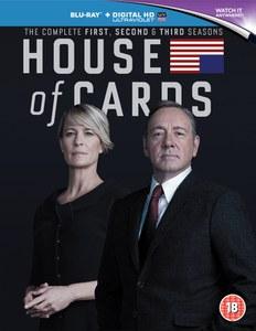 House Of Cards - Staffel 1-3 Blu-ray (Zavvi) in dt. Sprache