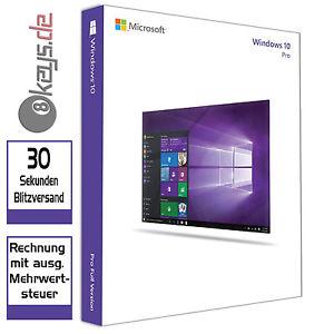 eBay: Microsoft Windows 10 Pro (DE) 32/64 Bit OEM Product-Key