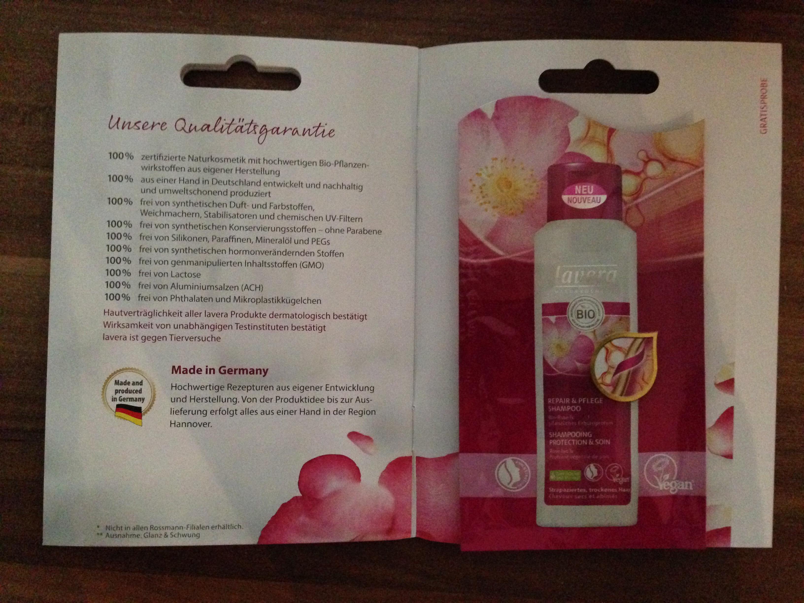 Rossmann - Gratis-Probe - Lavera Repair & Pflege Shampoo - 10ml