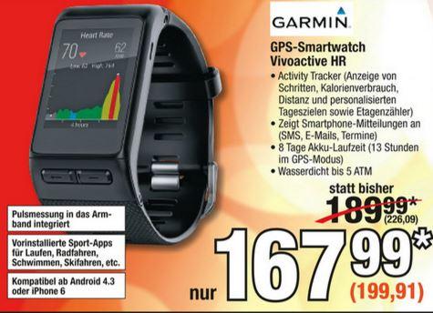 [Metro] Garmin vivoactive HR Sport GPS-Smartwatch